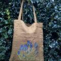 Lininis pirkinių krepšis Pavasaris