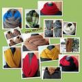 Šalikai - movos megzti virbalais