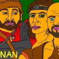"""Serialo """"Conan"""" trys veikėjai kovotojai"""
