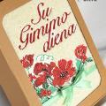 Urtestekstile - Kvepiančios gėlės - Siuvinėtas rankšluostis