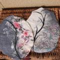 veltinio servetėlės dekoruotos audiniu ovalios 2