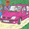 Vienaturtis - Batuotas Katinas nuvyko Papyvesin, pamatyti naują Lakišių nusipirktą sau automobilį