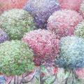 VLabinaite - Spalvingos hortenzijos 100x40 al.drobė