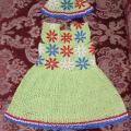 Vasarinė suknele ir kepuraitė 2 m merg