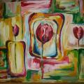 Stilizuotos tulpės