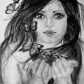 Mergina ir drugeliai ;D